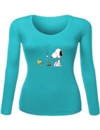 Snoopy - Camiseta de manga larga - para mujer