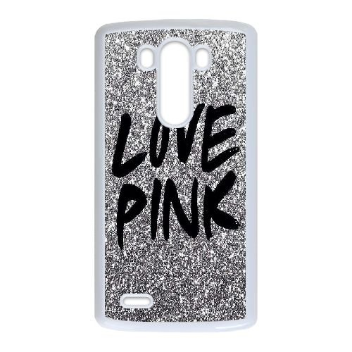 TOPDIY Personalized Cheap Phone Case for LG G3 with Love Pink