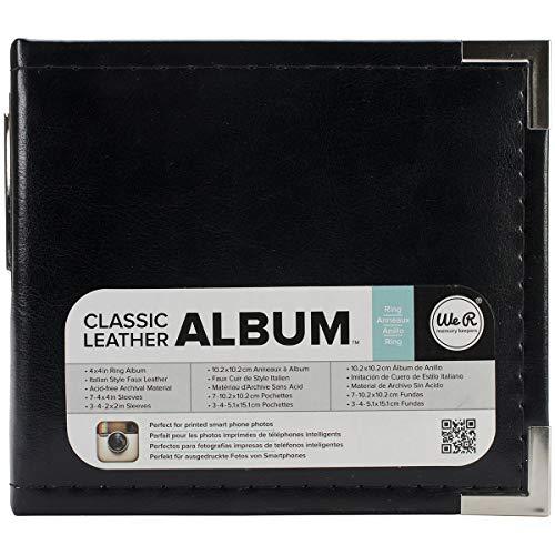 Memory Album Scrapbooking (We R Memory Keepers American Crafts Instagram Alben, 4x 4-Zoll, schwarz)