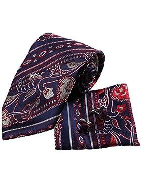 YAC1B02 Mehrfarbig Paisley Adults Day Geschenk Idee Seide Krawatte 3PT Von Y&G