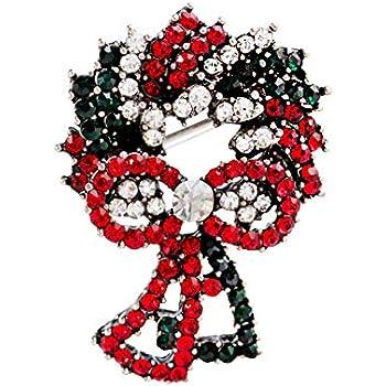 Blanc Qifumaer Cute No/ël Broches Chat pins Set d/écorations Arbre de No/ël Les Pins pour Femme Fille Cadeau de No/ël