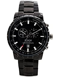 FOCE Analogue Black Dial Men's Chronograph Watch - [FS08BBM-BLACK]