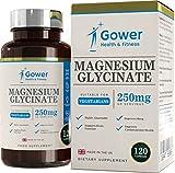 Magnesiumglycinat 250mg - 120 Vegetarische Kapseln (VORRAT FÜR 2 MONATE) | Eine Sehr Bioverfügbare Form von Magnesium | Hergestellt in ISO-zertifizierten Betrieben in GB
