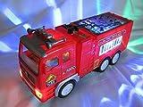 Jun Toys Elektrisches Feuerwehrauto selbstfahrend mit LED Beleuchtung u. Sound Spielzeug Auto NEU