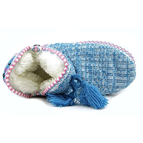 Muk Luks Sweater Toile Pantoufle Blue Multi