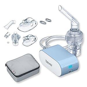 Beurer IH 60 Inhalator, leises und tragbares Inhaliergerät, Kompressor-Druckluft-Technologie, Akku-Betrieb, bei Erkrankungen der Atemwege