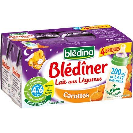 Blédina - Blédîner Carottes dès 4 mois 4x250ml