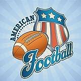 NFL American Football Sport Label Hochwertigen Auto-Autoaufkleber 10 x 10 cm
