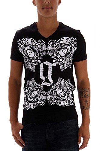 john-galliano-herren-t-shirt-schwarz-grosse-xl