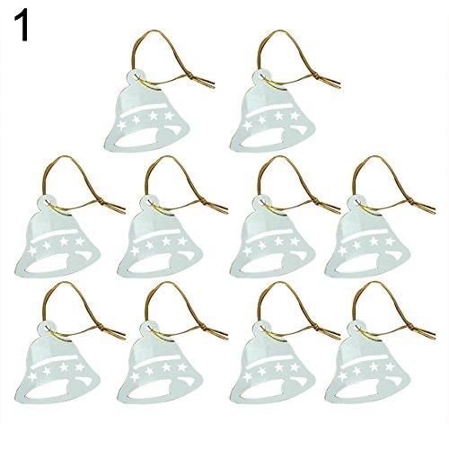 Festive decorazioni da appendere a campana in design elegante albero di natale snowflower party decorazione, acrilico, 1#, taglia unica
