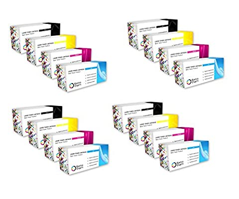 ElectroCharm Compatible Toner Cartridge Replacement for HP Color LaserJet 3500 / 3500N / 3550 / 3550N (Black, Cyan, Magenta, Yellow - 4 Sets of 4