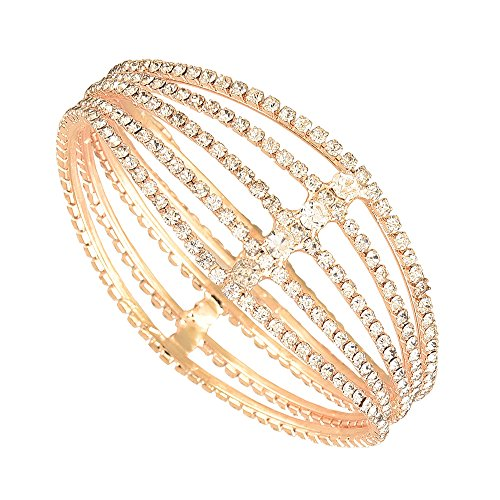 Zeneme American Diamnd Antique Style Gold Plated Kada/ Bangle Jewellery for Women / Girls (2.6)