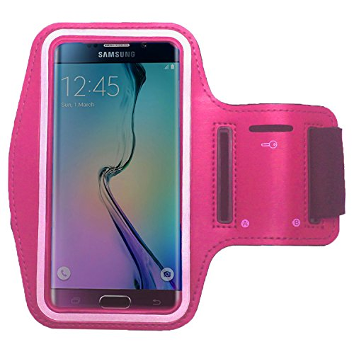 RotSale® 1x Pink iphone 6 Plus 6+ Handy Armband Samsung Note 2 3 Neo Galaxy A7 E7 J7 Grand 2 S5 S6 S6 Edge Huawei Honor 3X Pro 4X 6 Plus 7 Ascend P8 P8 Lite G7 Armhalter Wasserabweisend Klettverschluss Schutzhülle Etui Case für Sport Laufen Joggen Running Sicherheitsdesign
