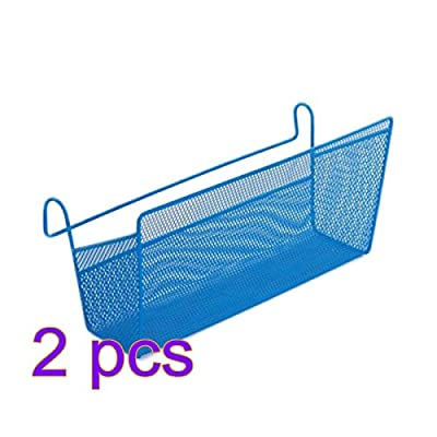 Corner Shelves, Wolfbush 2pcs Dormitory Bed Hanging Storage Basket Desktop Storage Rack Shelf Bed Hanging Basket for Book Mobile Phone iPad Cup Magazine