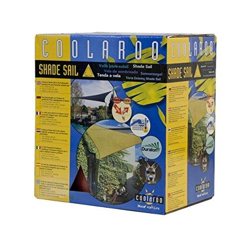 Windhager 87022 Sonnensegel Coolaroo, Dreieck 5 m, terracotta