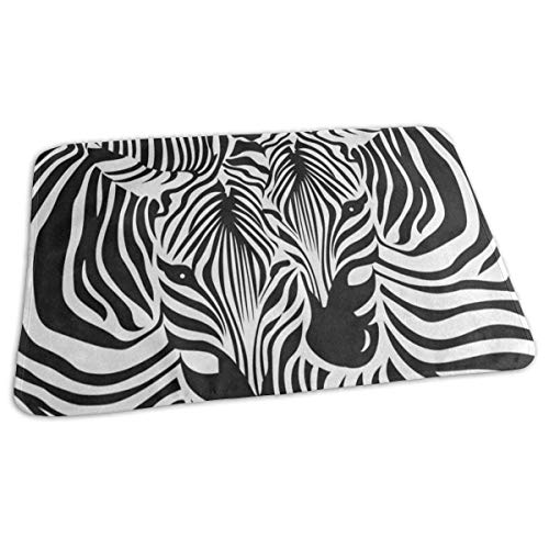 Red Zebra Cover (Voxpkrs Changing Pad Funny Zebra Leopard Print Baby Diaper Urine Pad Mat Inspiring Toddler Children Mattress Cover Sheet for Any Places for Home Travel Bed Play Stroller Crib Car)