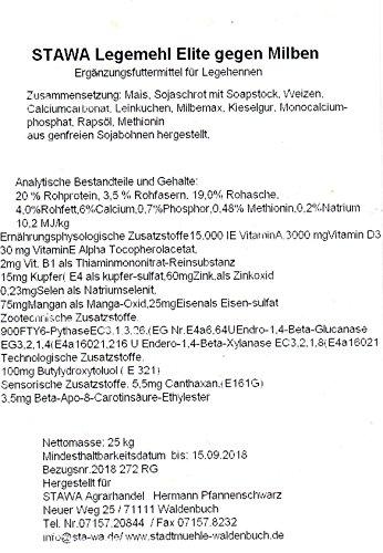 StaWa Legemehl Hühnerfutter Elite gegen Milben 25 kg !!! GVO-frei !!! mit Leinkuchenmehl - 2
