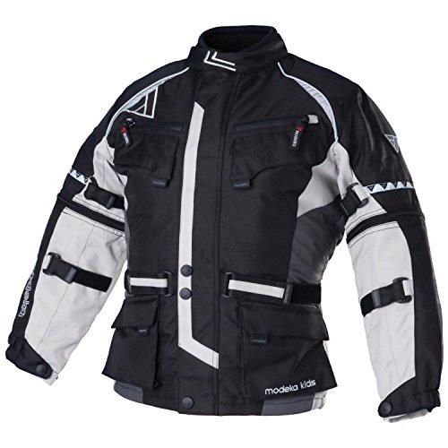 Modeka tourex Kids giacca in tessuto-Nero Grigio