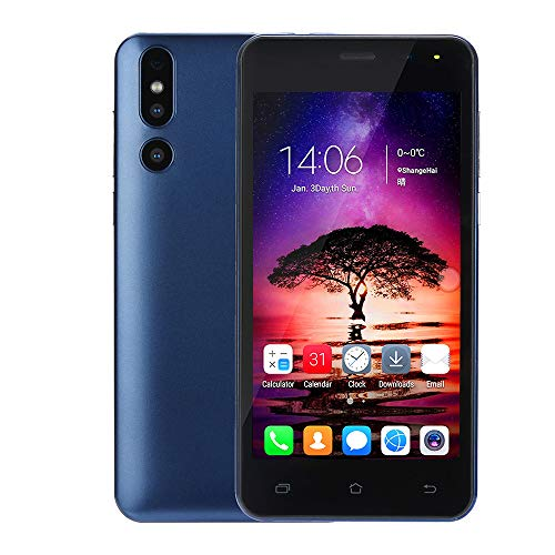 Fulltime E-Gadget Smartphone Mode 5,0 Zoll Doppel-HDCamera 512M RAM + 4G ROM Android 6.0 IPS-Bildschirm GSM/WCDMA-Touchscreen WiFi Bluetooth GPS 3G Dual-SIM Anruf-Handy (Blau)
