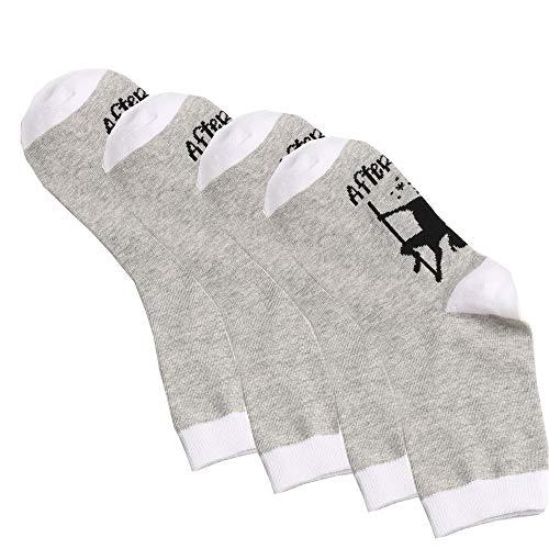 Socken Baumwolle Damensöckchen dünn mit Gummibund Atmungsaktive Sneakersocken Unisex Socks Sportsocken (B - 4 PCS) ()