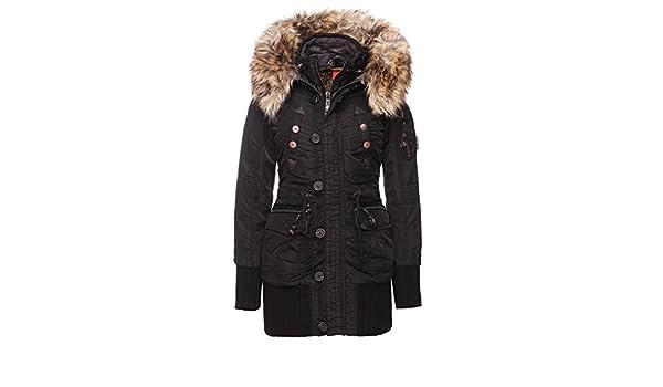 Khujo Damen Jacke Cille with Innerjacket schwarz black Gr