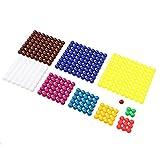 MagiDeal Montessori Mathematik Material Square Rechnen Perlen Blatt Kinder Vorschule Lernspielzeug Haus Ausbildung
