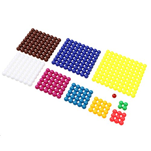 Mathematik Material Square Rechnen Perlen Blatt Kinder Vorschule Lernspielzeug Haus Ausbildung ()