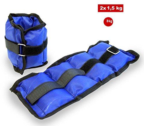 Fair coppia di pesi con cinghia regolabile 3 kg per allenamento sport fitness cavigliere palestra judo boxe riabilitazione