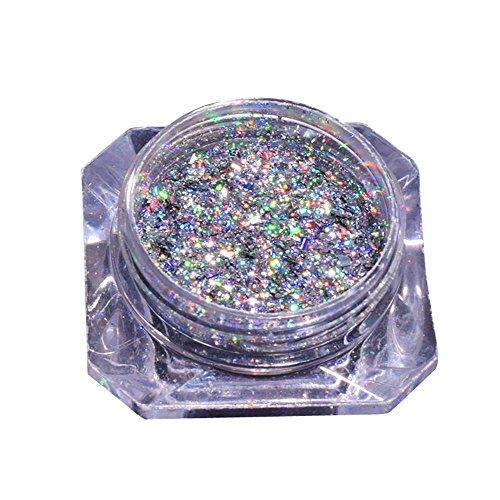 Sunenjoy Holographique Chrome Poudre d'ongle Briller poussière Effet miroir