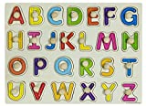 ABC Holzpuzzle Buchstabenpuzzle Alphabetpuzzle Abc Puzzle A-Z Holzpuzzel Abc holzbuchstaben Puzzle Lernspiele ab 3 Jahren Holzpuzzle Kinderspielzeug Lernspielzeug aus Holz Holzspielzeug