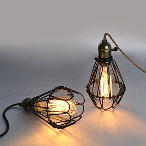 Gazechimp Retro Design Hängeleuchte Käfige Lampenschirm mit E27 Lampensockel ( Kein Draht ) für Pendelleuchte Deckenleuchte Kronleuchter Decken
