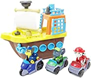 Paw Patrol Pirate Boat with Working Anchor, Three Paw Characters with their Ultimate Rescue Vehicles, Boat wit