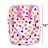 Decompression Toys, Saingace Children Kids Backpack & Doll Carrier Sleeping Bag For 18''American Girl Clothes (A)(only sell bag)