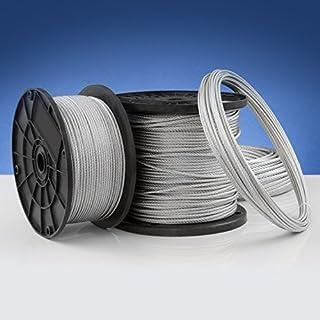 50m steel wire rope 3mm galvanised steel EN 12385-4 Strand: 6x19+FC