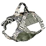 BgDD Gilet Tactique De Harnais De Chien en Nylon De Camouflage 1000D Filet Respirant...