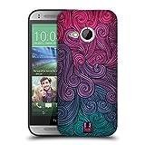 Head Case Designs Hot Pink Und Grün Lebhafter Wirbel Snap-on Schutzhülle Back Case für HTC One Mini 2