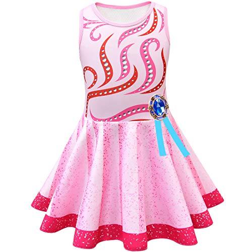 QYS Mädchen Phantasie Nancy Kostüm Cosplay Kleider Halloween Rainbow Dress Up Kleidung mit Zubehör,Dress,120cm (Up Eine Wie Für Dress Halloween Puppe)