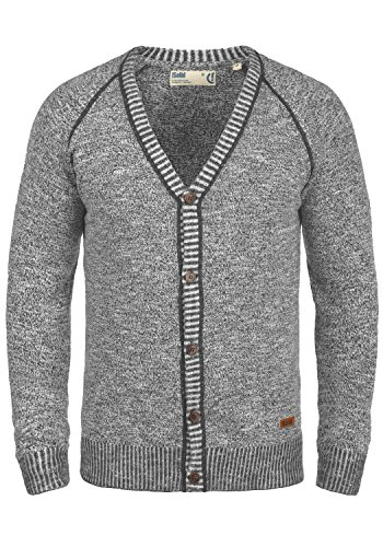 SOLID Thiamin Herren Cardigan Strickjacke Dark Grey (2890)
