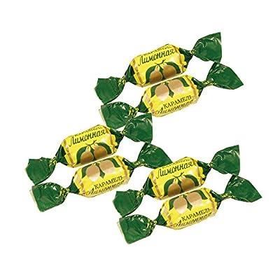 "Hartkaramellen ""Limonnaja"" mit Zitronengeschmack"