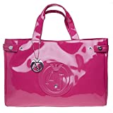 ARMANI JEANS Large Patent Pink