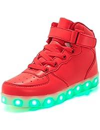 YUTUTU Scarpe da ginnastica LED per bambini High Top con gancio e antivento per ragazze
