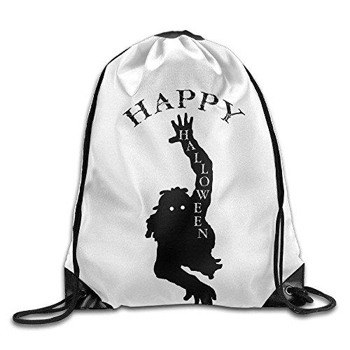 Sporttaschen,Eco-Friendly Pirnt Zombie Halloween Happy Halloween Gym String Bag Exotic Drawstring Backpack ()