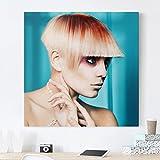 Bilderwelten Impression sur toile - Modern Lady - Carré 1:1, toile imprimée toile impression photo sur toile xxl décoration murale art murale, Dimension: 30cm x 30cm...