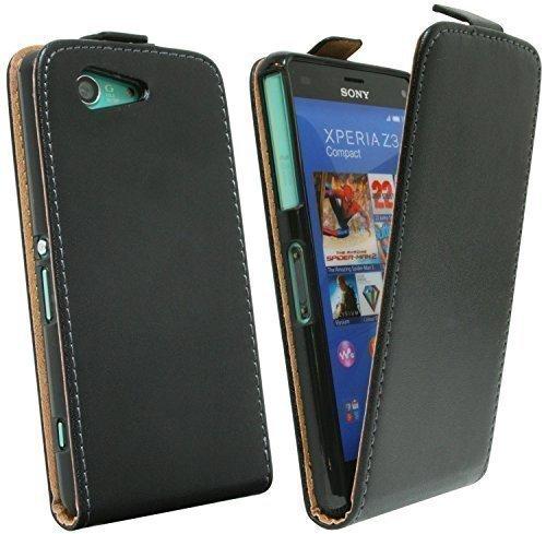Klapptasche Schutztasche für Sony Xperia Z3 Compact D5803 in Schwarz Tasche Hülle @ Energmix