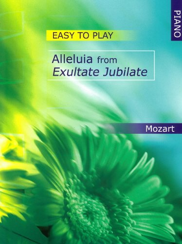 Mozart: Easy to Play Alleluia from Exultate Jubilate (Piano Solo)