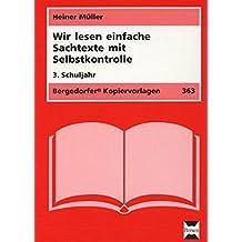 Wir lesen einfache Sachtexte - 3. Klasse: Mit Selbstkontrolle