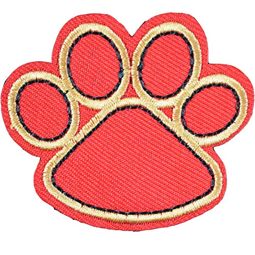 Qinlee Aplicaciones parche gato perro Huella de Pezuña embroi Embroidery parches plástico...