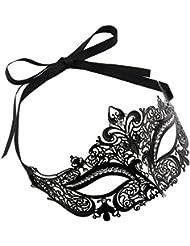 Vococal® Creusé de Découpe Métal Noir Masque Sexy Roi Visage Masque de Mascarade Party