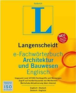 Langenscheidt e-Fachwörterbuch Architektur und Bauwesen Englisch [Download]