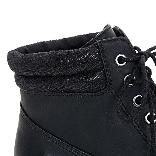 PRENDIMI by Scarpe&Scarpe - Chaussures montantes avec col effet brillant Noir